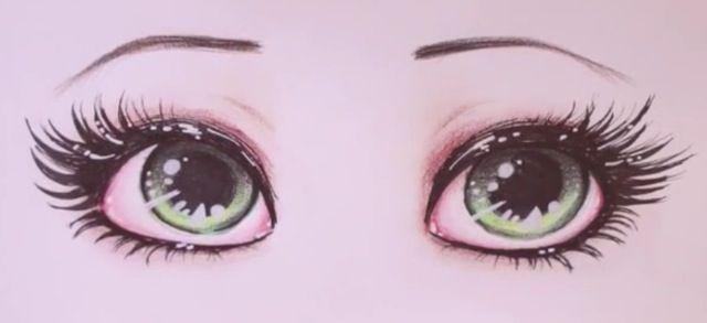 Drawing beautiful eyes n.n