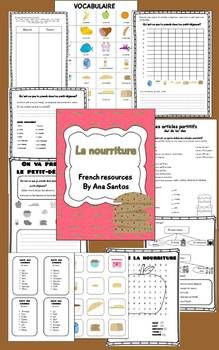 La Nourriture- French activities
