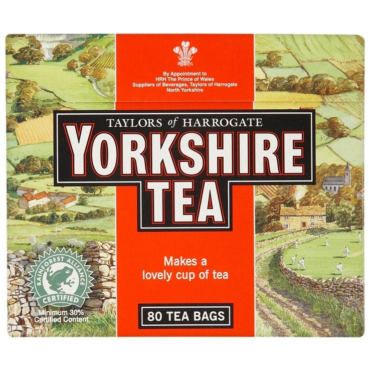 Yorkshire Tea. Should really only be made with Yorkshire water (the soft kind), but, in Yorkshire fashion, we'll make do and it'll be grand.
