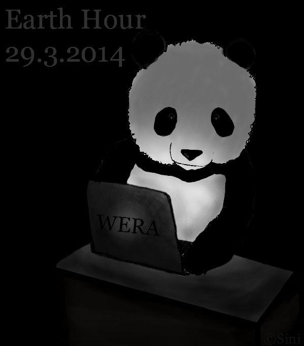 Sini1178 taiteili Earth Hour -kuvan, jossa pääosassa on suloinen panda