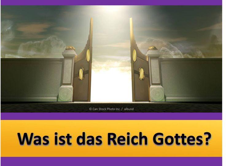 """Jesus lehrte uns zu beten: """"Dein Königreich komme. Dein Wille geschehe wie im Himmel so auch auf der Erde."""" (Matthäus 6:10) Aber, was ist das Reich, und wie wird es uns helfen? Erfahren Sie hier. https://www.jw.org/de/publikationen/buecher/gute-botschaft-von-gott/was-ist-das-reich-gottes/ (Jesus taught us to pray: """"May your Kingdom come; may your will be done on earth as it is in heaven."""" (Matthew 6:10, GNT) But, what is that Kingdom, and how will it help us? Learn more here.)"""