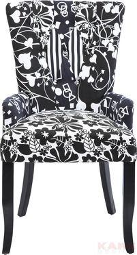 Chair with Armrest Villa B&W