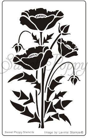 new Sweet Poppy Stencil.  The Craft Station Ltd.