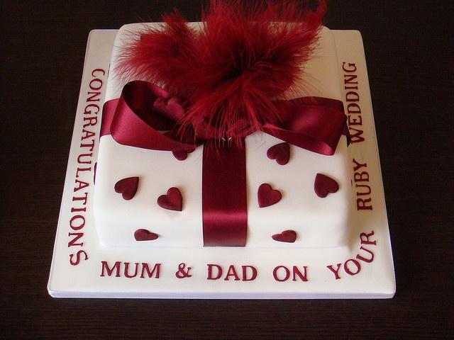 Ruby Wedding Anniversary Cake Ideas: 62 Best Anniversary Images On Pinterest
