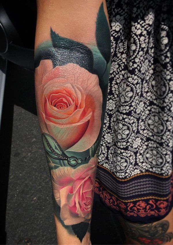 Rsoe falarm tattoo - 120+ Meaningful Rose Tattoo Designs  <3 <3