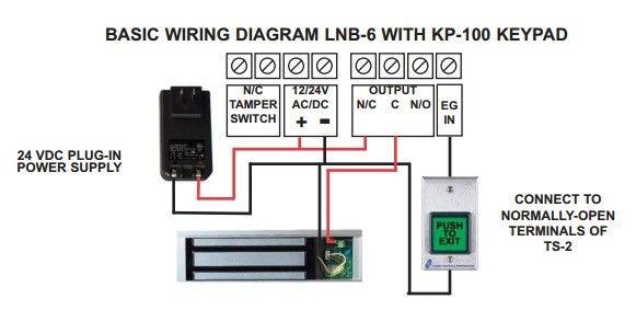 Alarm Controls Lnb 6 600lb Lock N A Box Kit Indoor Only By Alarm Controls For 481 00 Alarm Magnetic Lock Diagram