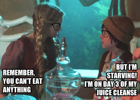 once upon a time hipster  LOL  Hansel wishes he'd done Gwyneth Paltrow's cleanse instead, at least he'd get to eat solid food.Gwyneth Paltrow, Paltrow Cleanses, Paltrow Cleaning