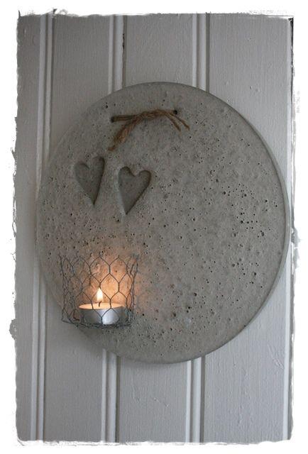 Diy idee beton hanger voor buiten