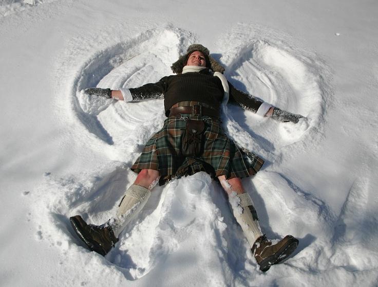 Angel snow kilt, the best of both worlds