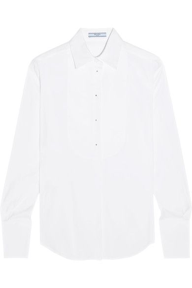 Prada - Stretch Cotton-blend Shirt - White - IT36