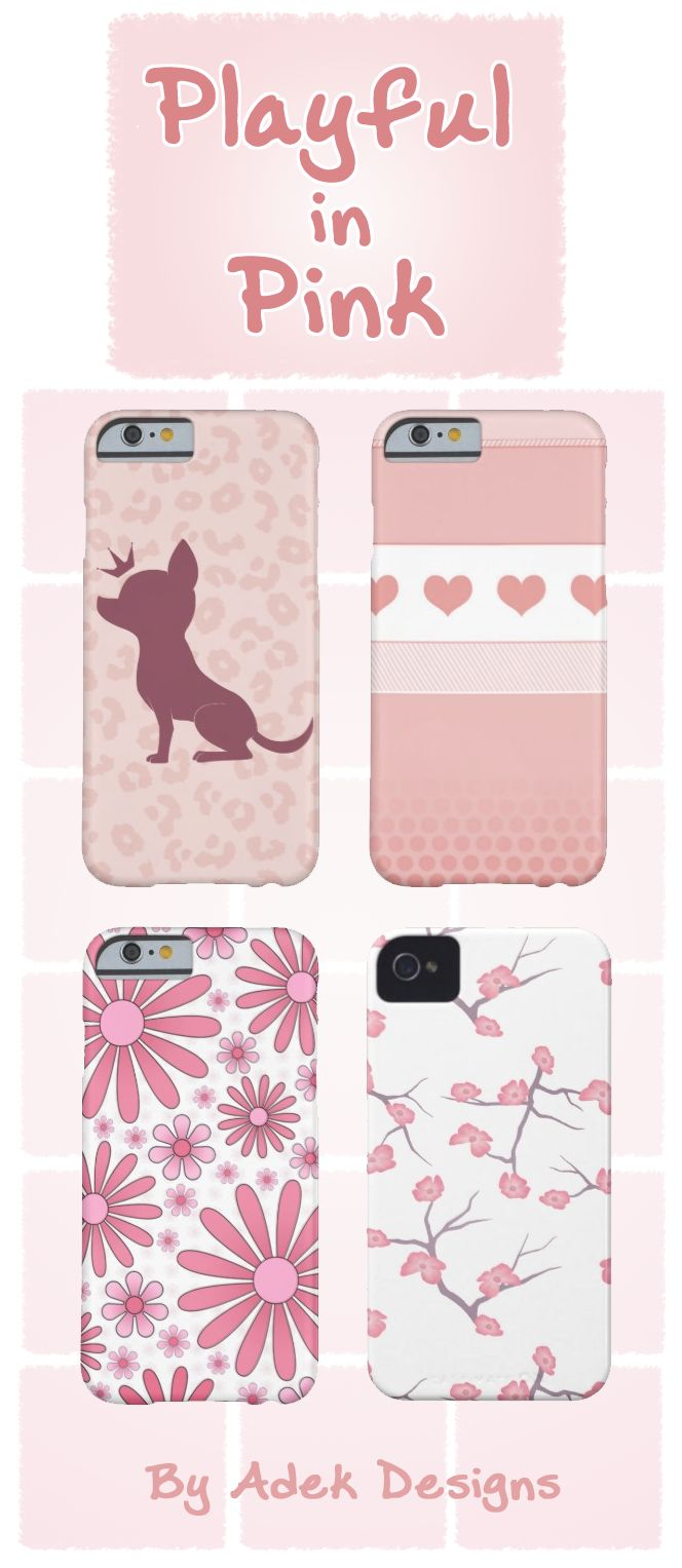 We love girly things! Check out our Playful in Pink collection today. All cases are available on a multitude of phone types. Just click the design you like best, and see all the options from there!  http://www.zazzle.com/collections/playful_in_pink-119765564927538131