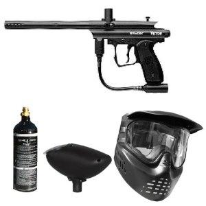 Spyder Paintball Victor Gun Marker Package (Black) (Sports)  http://best-paintball-gun.com  B004VJSUOE