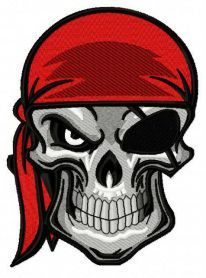 Angry pirate's skull 3 machine embroidery design. Machine embroidery design. www.embroideres.com
