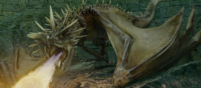 Harry Potter fights a Hungarian Horntail in J.K. Rowling's ...