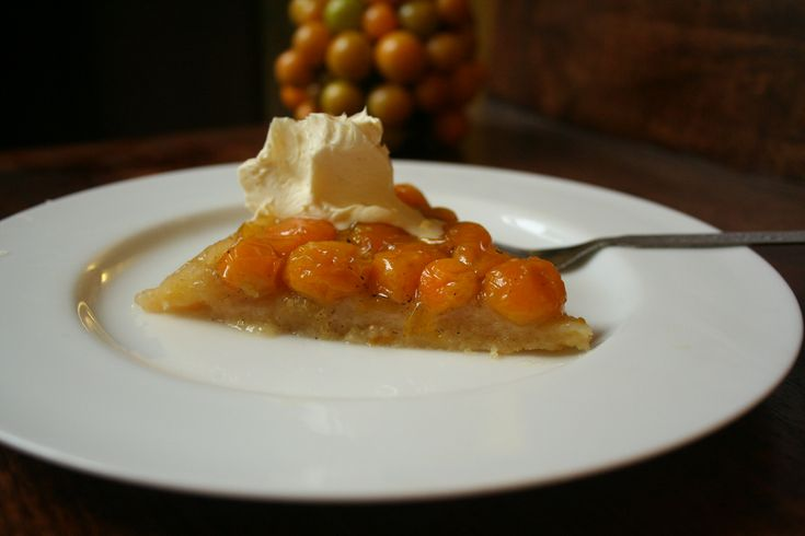 Cape Gooseberry Tarte Tatin - perhaps with a little less butter in the pastry dough next time?