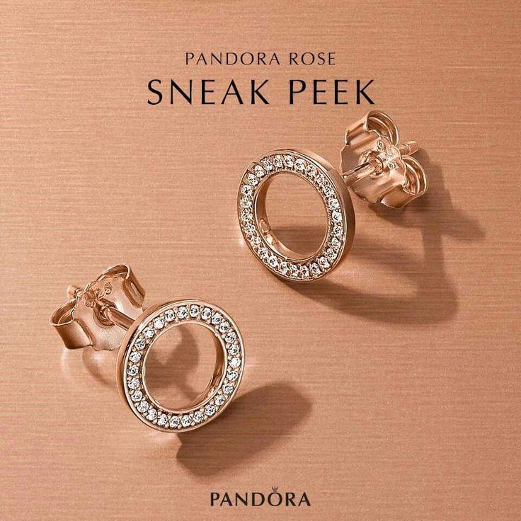 PANDORA rose gold earrings September 2016