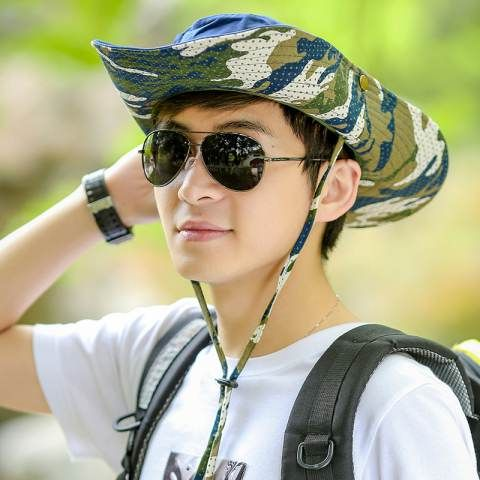 Outdoor fishing bucket hat UV package Camouflage sun hats for men