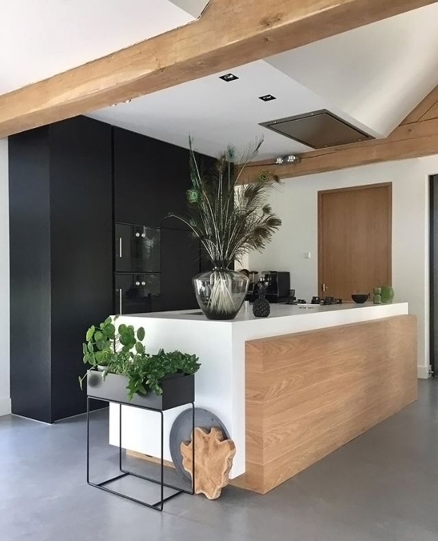 Love this gorgeous kitchen! Ferm Living plant box available at www.istome.co.uk