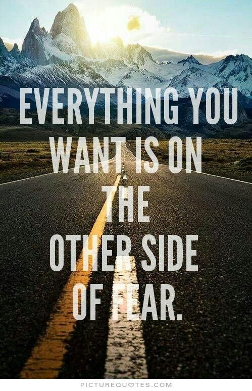 Everything you want is on the other side of fear Picture Quote #1