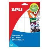 SOBRE ETIQUETAS APLI A5 BLANCAS. Disponible en varias medidas y formatos.