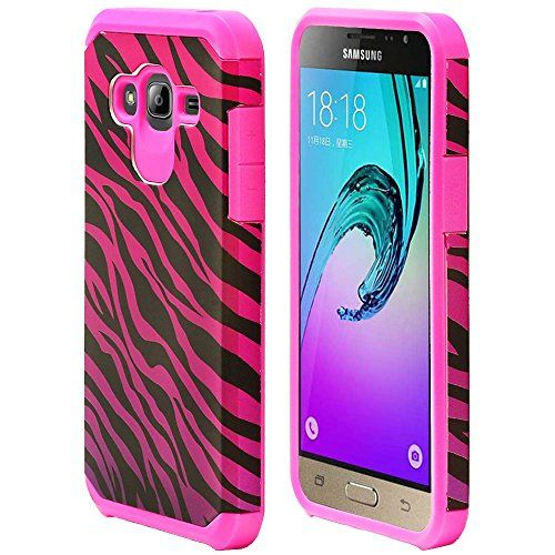 Buy For Samsung Galaxy J3 / Samsung Galaxy Amp Prime /AT&T GoPhone Samsung Galaxy Express Prime /ITUFFY 3items: Screen Film+Stylus Pen+Dual Layer Shockproof Slim Hybrid Armor Case (Pink Purple Zebra) NEW for 4.99 USD | Reusell