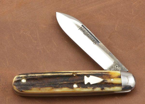 Northwoods Knives Forest Jack Burnt Stag 25 Folding