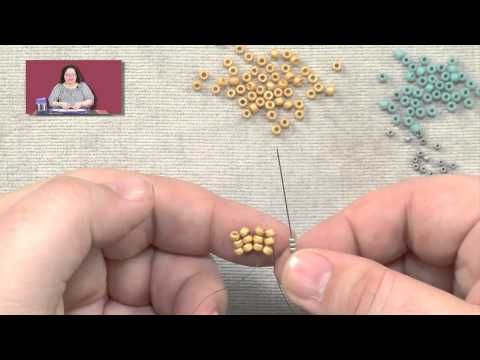 Beadweaving Basics: Flat Herringbone Stitch  ~ Seed Bead Tutorials