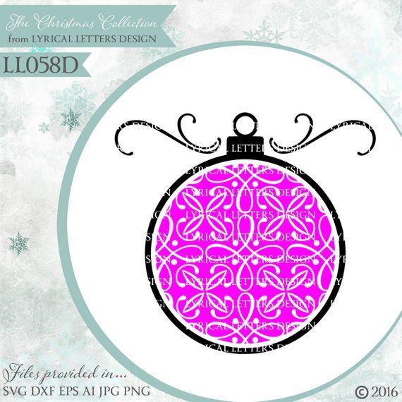 32bd833a1903b Christmas Ornament with filigree Pattern Fill LL058 D - Svg ...