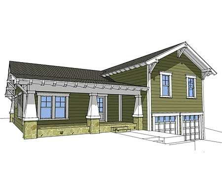 plan 44067td craftsman split level - Split Level Home Designs