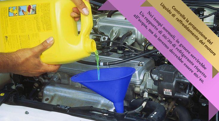 Verifica il liquido di raffreddamento del motore Il sistema di raffreddamento di un auto non è progettato solo per prevenire il surriscaldamento del motore, ma è anche responsabile della protezione contro la corrosione. Prima che il tempo diventi troppo freddo, assicurati di utilizzare un liquido refrigerante con il giusto mix di antigelo e acqua. È possibile farlo con l'acquisto di un tester al tuo negozio locale di ricambi auto. #pneumaticiestivi