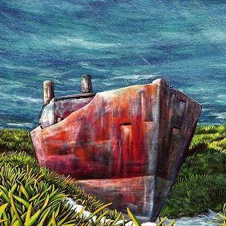 Ship of fools. Don Pedro  Arturo Mranda #underwater  #oiloncanvas  #oil  #submarine  #art #arturomiranda  #donpedro  #ibiza2016  #nemo  #posidonia
