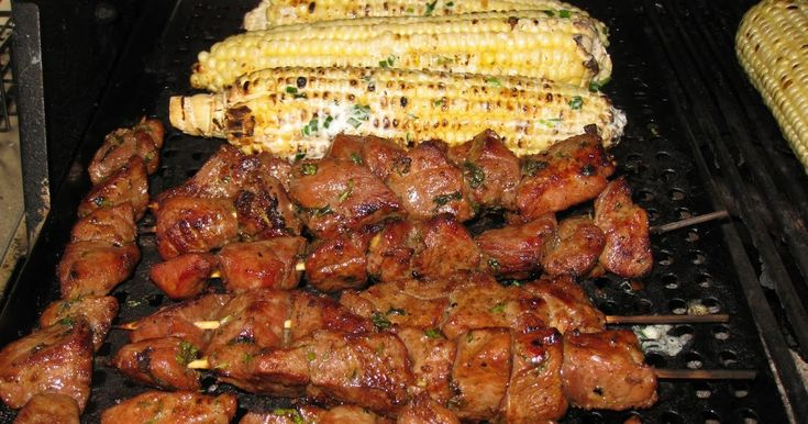 Thai BBQ Pork 4 T soy sauce 3 T oyster sauce 1 ½ lbs of pork loincut to bite size 3 T chopped cilantro 1 T chopped mints 3 T mince...