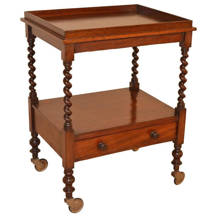 19th Century English Mahogany Tea Cart. Serving TableServing TrolleyTea Cart Bar ...