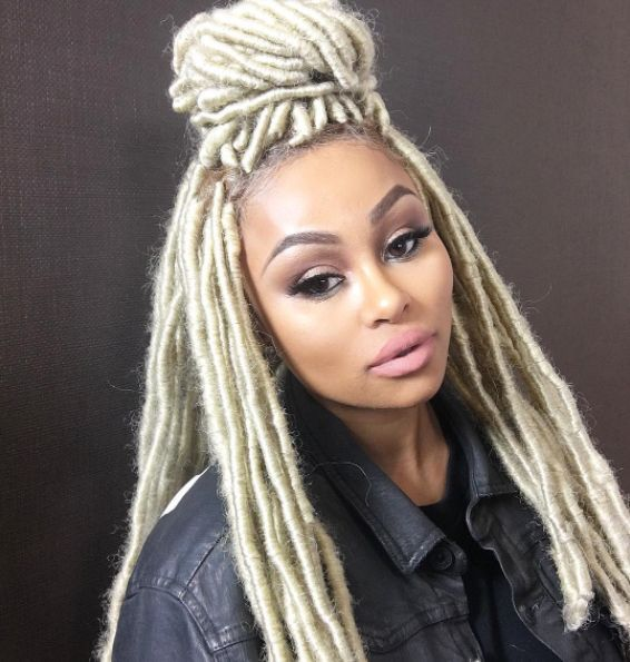 Blac Chyna had folks on the Internet gushing over her latest hairstyle — an eye-catching crop of platinum blond faux locs, which is actually a wig.