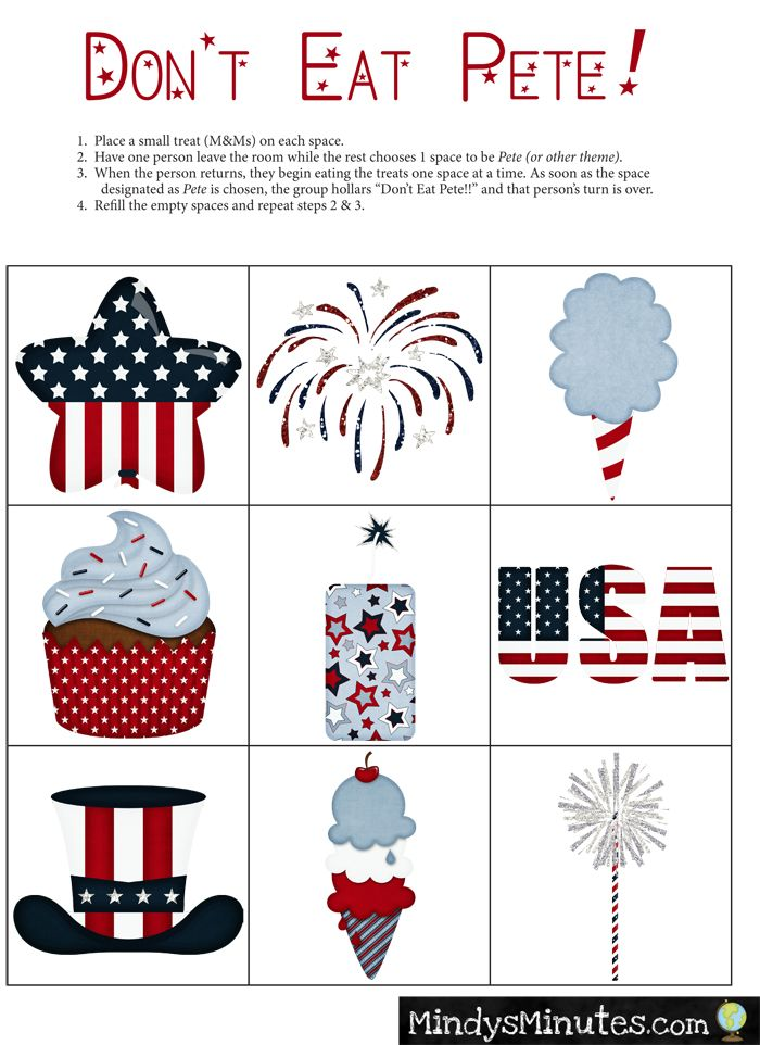 free memorial day bingo cards