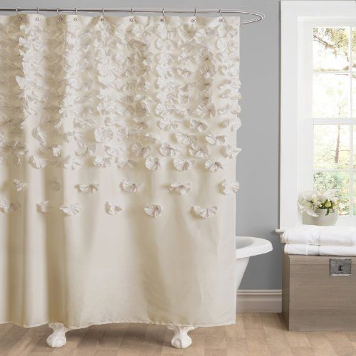 Lush Decor Lucia Shower Curtain 72 Inch By Ivory