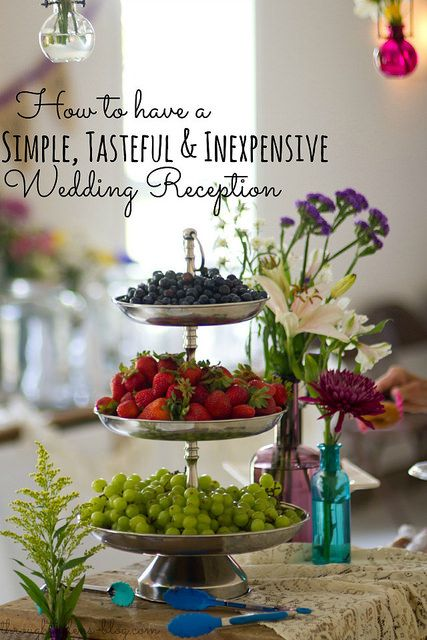 How to have a simple. tasteful and inexpensive wedding reception. Appetizers & dessert! Awesome idea!