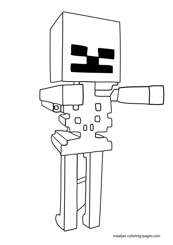 15 pics of minecraft skeleton coloring pages to print minecraft