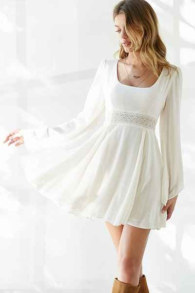 Silence + Noise Perfect Circle Swing Dress - Urban Outfitters
