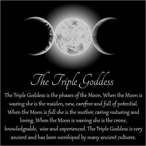 Triple Goddess of the Moon & her relevance during the Moon Phases. )O(