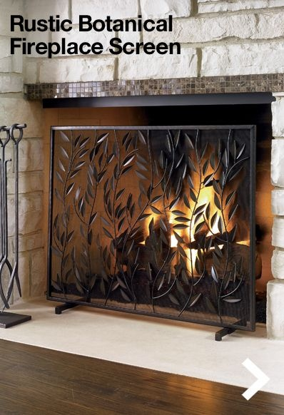 16 best Fireplace screens images on Pinterest | Fireplace screens ...