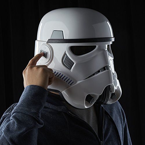 Star Wars The Black Series Imperial Stormtrooper Electronic Voice Changer Helmet. Collector-grade quality, part of the Black Series collection. Realistic detail and movie-accurate reproduction Electronically change your voice to sound like an Imperial Stormtrooper. toys4mykids.com