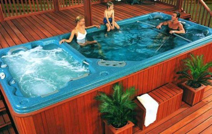 Hot Tub Swim Spa Pools Swim Spa Hot Tub Combo In 2019