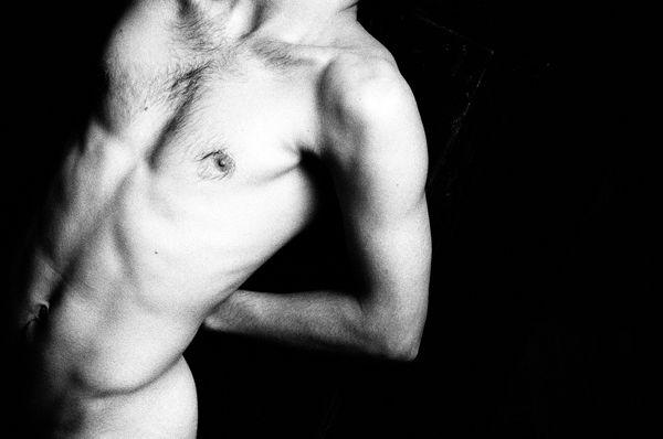 Black and white film photo.