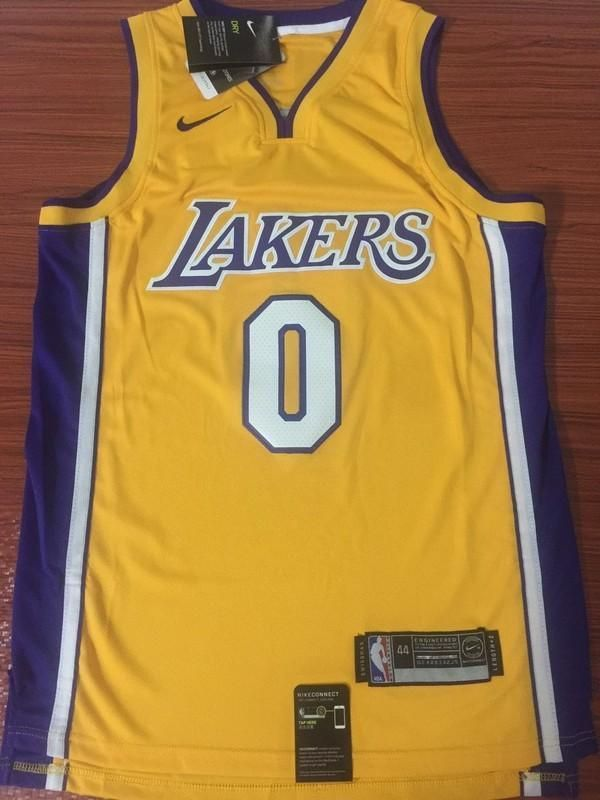 Men 0 Kyle Kuzma Jersey Yellow Los Angeles Lakers Swingman Fanatics Sports Jersey Design Los Angeles Lakers Kyle Kuzma