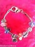 Charm Bracelet with 9 beautiful Euro BEAD CHARMS cute Hello Kitty Charm NEWCharm Bracelets, Kitty Charms, Beads Charms, Charms Bracelets