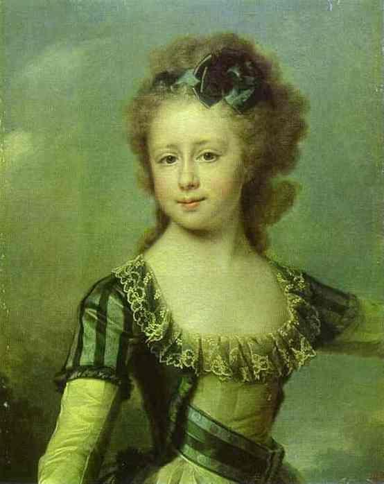 Maria Pavlovna in 1790 by Levitsky