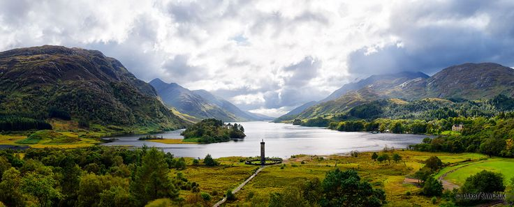 scotland | ... the Glenfinnan Monument and Loch Shiel in the background in Scotland