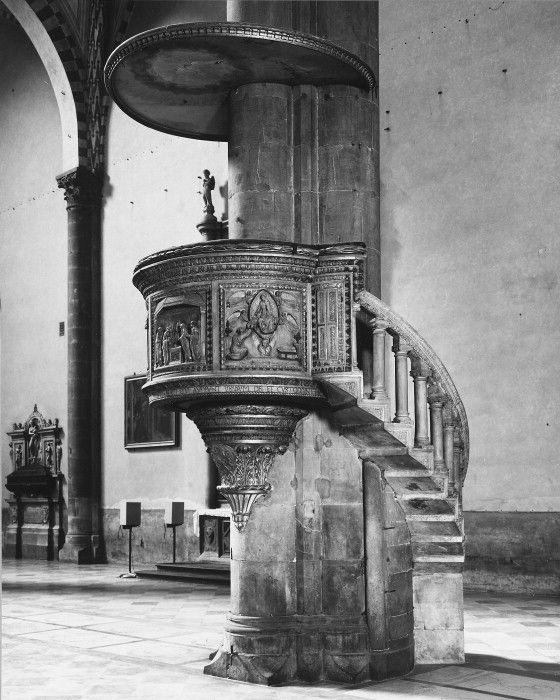Pulpit, Santa Maria Novella, Florence.         1443-1445   Brunelleschi - Cavalcanti.