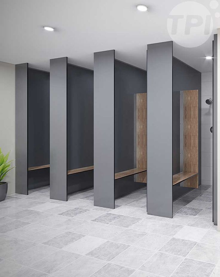 The FH Full Height partition system is the perfect system for complete cubicle privacy. The FH system has floor to ceiling panels and doors with clearances of 20mm FFL and 55mm FCL. The 55mm clearance at the top of the doors allows the lift off hinges to function in case of emergency. The FH partition system is the next best thing to an individual room but at a fraction of the cost.